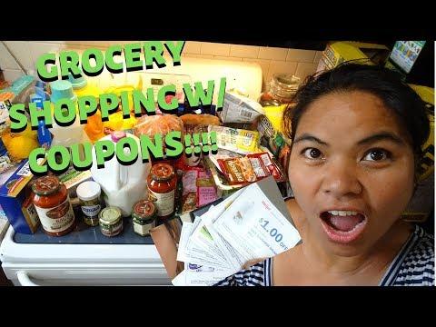 BUHAY AMERIKA:GROCERY SHOPPING HAUL USING COUPONS!!!  FIL-AM FAMILY VLOG FIL-AM KIDS