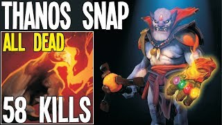 WTF 4000 Finger Damage Real Thanos 58 Kills Lion   Dota 2 Silly Builds