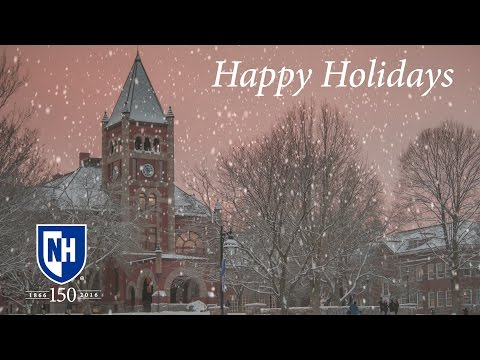 Happy Holidays From UNH 2016