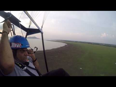 Aerochute flying with Ceo Stephen in Thailand.