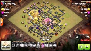 th9 queen16 valk3 qw gowiva 3 star on max defense 9 war