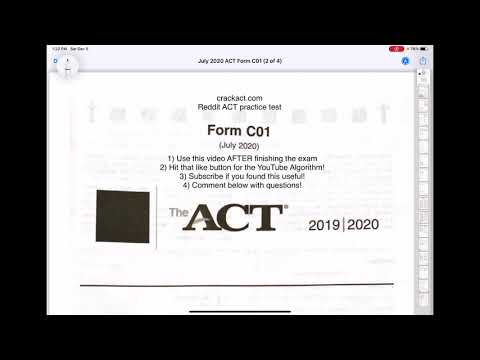 Act English Test Walkthrough July 2020 Form C01 Re Upload Youtube Doesn't bother with a dcma action. act english test walkthrough july 2020