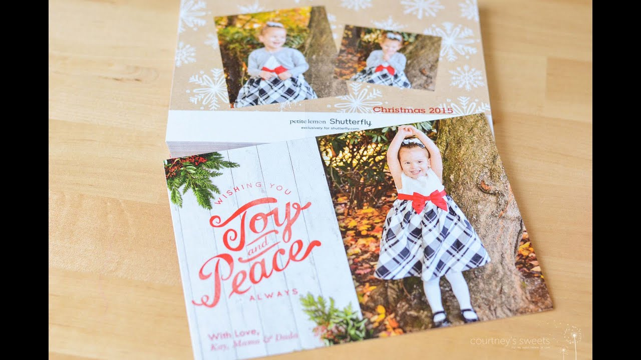 How to Make Shutterfly Holiday Cards #MiVidaShutterfly - YouTube