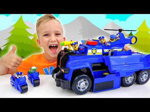 Vlad and Niki PAW Patrol Ultimate Cruiser Rescue