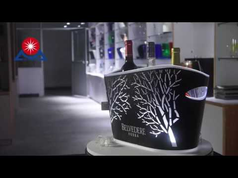 Led AS ice bucket with stainless steel