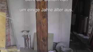 Wie man Holz/ balken auf alt und antik trimmt. how to make old wood
