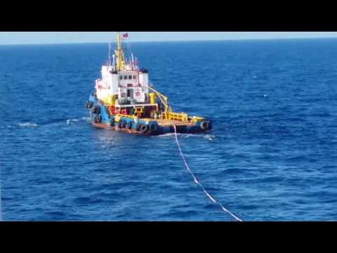 [Seismic channel] ▶Solas emergency towing drill @ seismic vessel activity