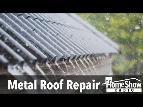 What's the best practice for metal roof repair?