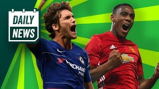 TRANSFER NEWS: Marcos Alonso to Madrid + Martial leaving Manchester? ► Daily Football News