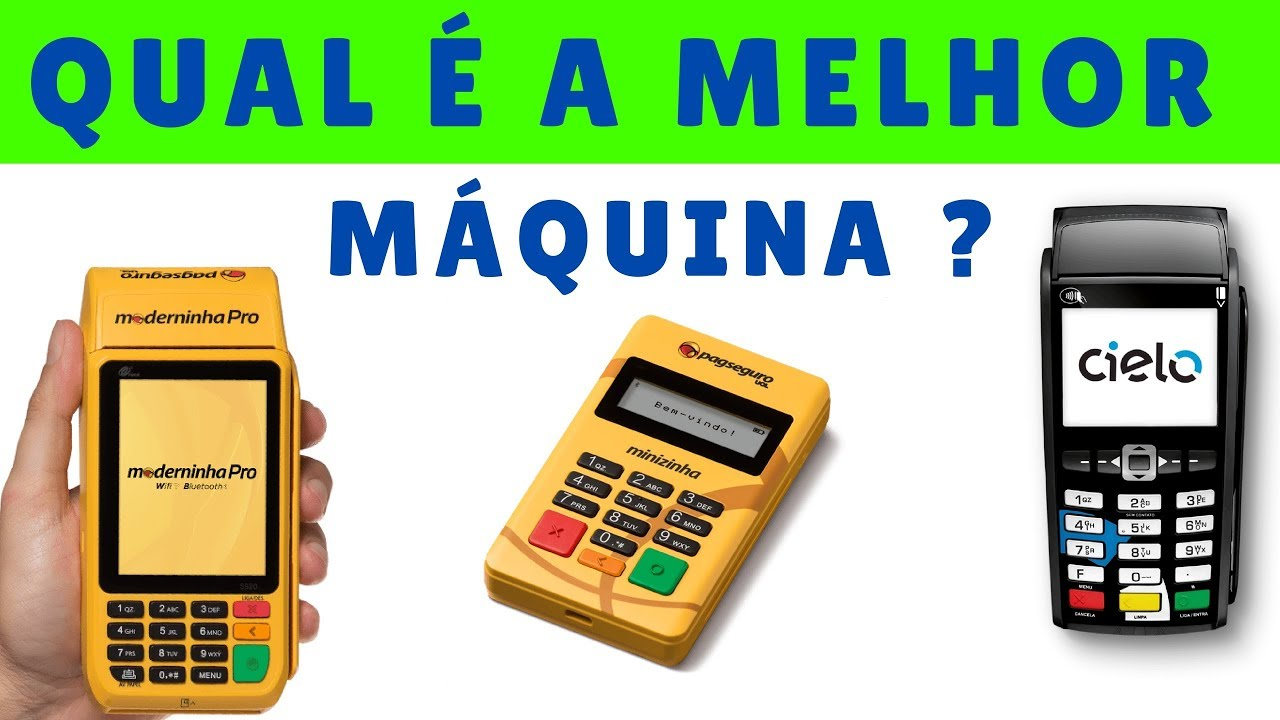 ed87cb874 A Melhor Máquina de Cartão de Crédito e Débito ? Qual vale a pena ...