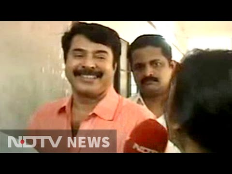 Superstar Mammootty queues up to vote in Kerala polls