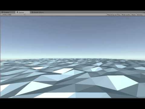 Unity Low poly waves shader 2