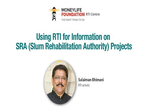 """Sulaiman Bhimani on """"Using RTI for Information on SRA Projects"""""""