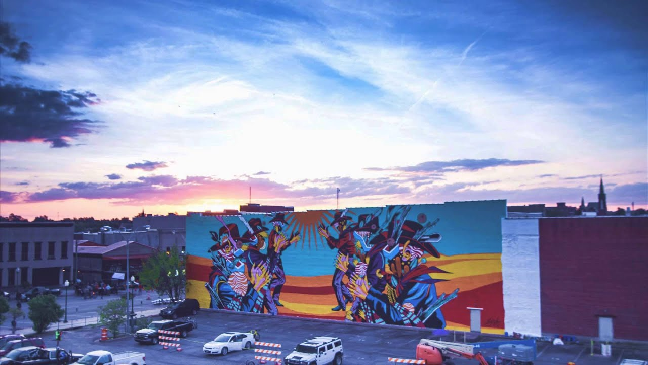 ft smith festival of murals sunrise 2015 youtube