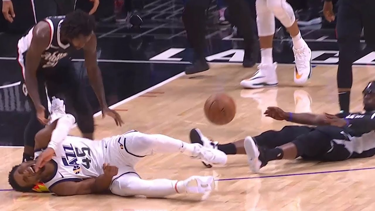 Donovan Mitchell is down in serious pain 👀 Jazz vs Clippers Game 6
