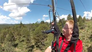 Zip Line at the Inn of the Mountain Gods, Ruidoso New Mexico - June 10, 2015