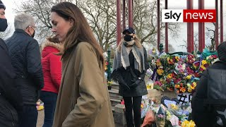 Duchess of Cambridge pays tribute at Sarah Everard memorial site