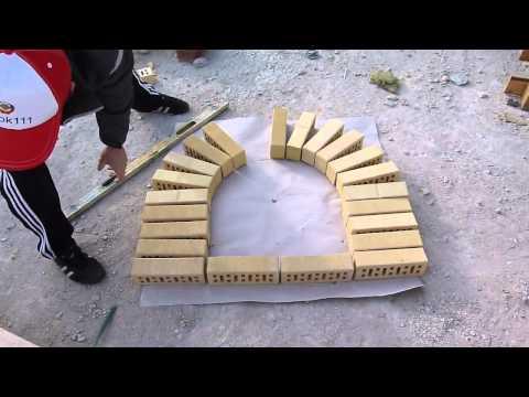 арка из кирпича.как правильно разметить и сделать арку.Nivok111
