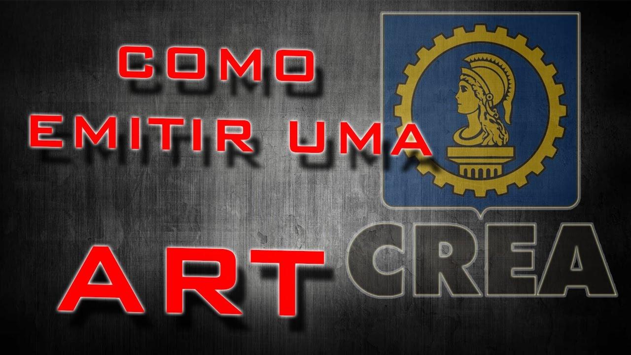 COMO EMITIR UMA ART  - YouTube db98eeb48c