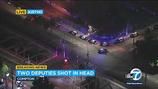 2 L.A. County sheriff's deputies shot in Compton 'ambush'   ABC7