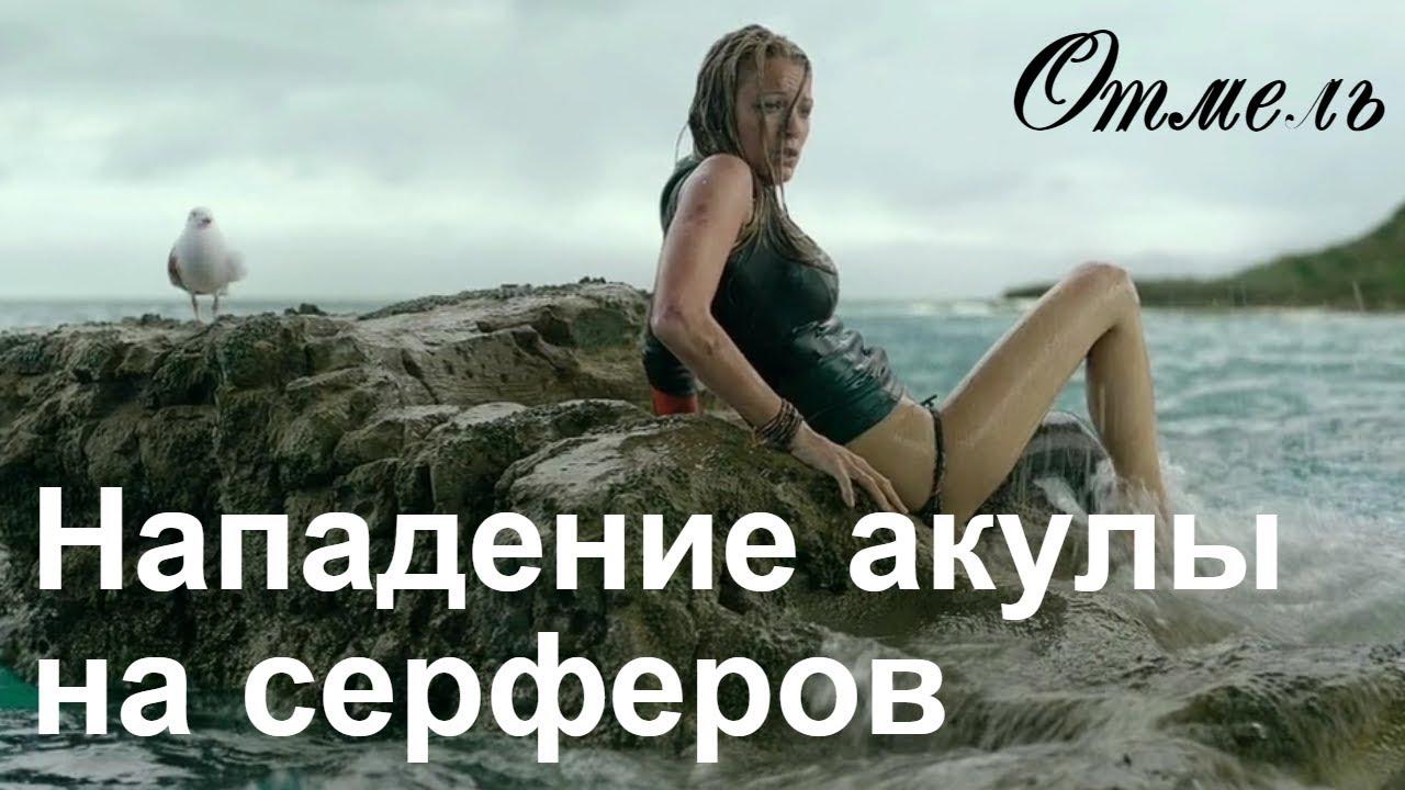 Нападение акулы на людей. Смерть в океане. Отмель.