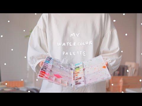 [ENG cc] All About My WATERCOLOR Palette และ อุปกรณ์ที่เกี่ยวกับสีน้ำ 🎨 | Raveeoftitans