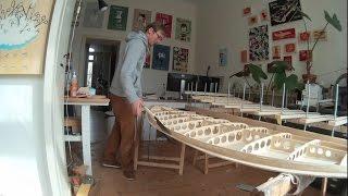 hollow wood surfboard project, paulownia wood, diy