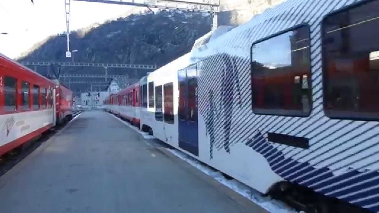 Swiss Watch Swiss Trains: Glacier Express Rail Route; Brig To