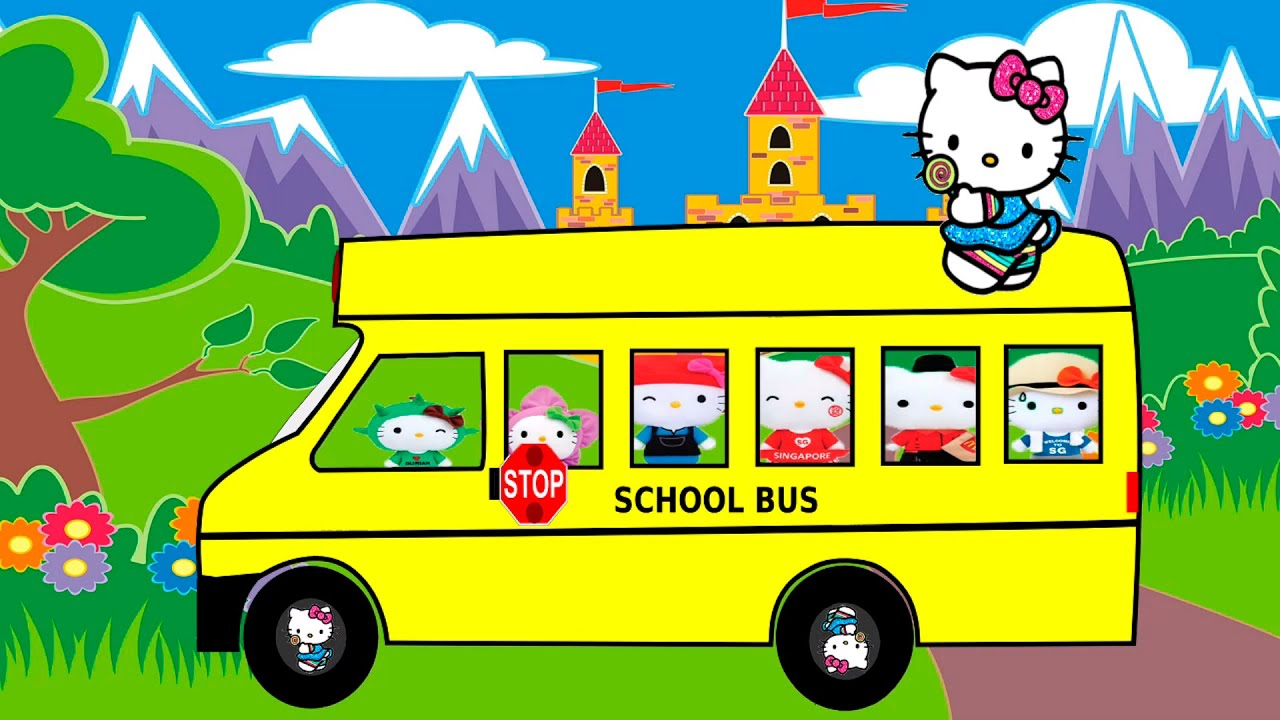 hello kitty the wheels on the bus �� nursery rhymes