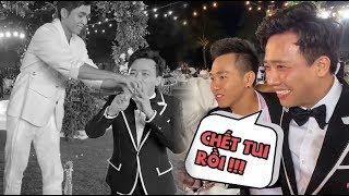 Sau 3 năm hôn nhân, Hari Won LẦN ĐẦU thấy Trấn Thành xỉn ở đám cưới của Đông Nhi!