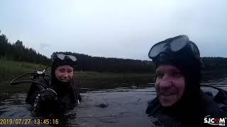 дайвинг киров озеро лежнинское  первый раз с аквалангом
