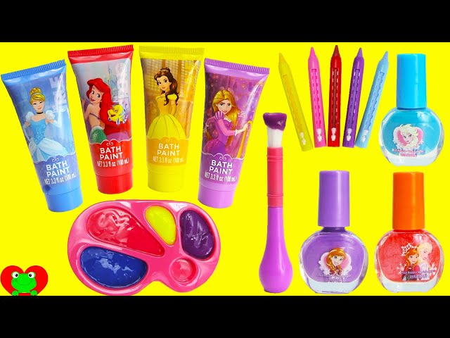 Disney Princess Bath Paints and Nail Polishes Surprises