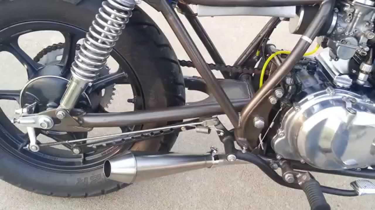 KZ440 Stainless Reverse Megaphone Exhaust - YouTube