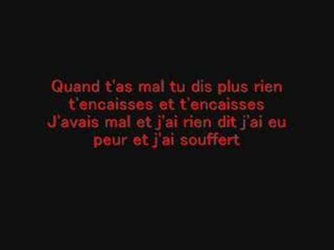 Ma Souffrance - Diam's (Paroles)
