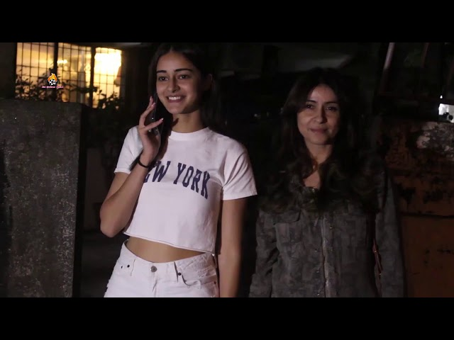 Bhumi Pednekar and Ananya Panday along with her mom bhanva panday spotted at kromakay salon juhu