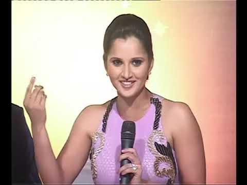 Best Interview Sania Mirza and Shoaib Malik on set.