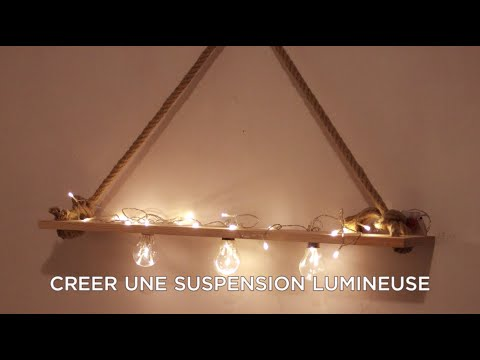 diy comment fabriquer un luminaire doovi. Black Bedroom Furniture Sets. Home Design Ideas