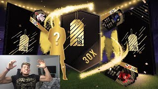 MY BEST PACK EVER!! 30 X GUARANTEED 81+ TOTW PACKS OMGGGG🔥🤑 (FIFA 18)