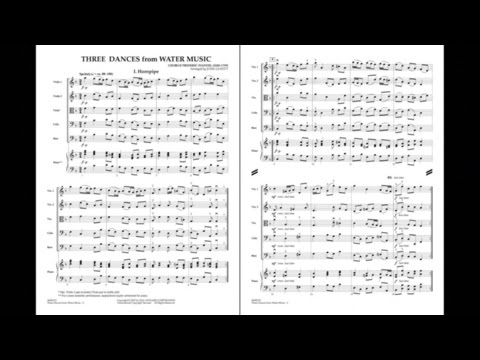 Three Dances from Water Music by G.F. Handel/arr. John Leavitt