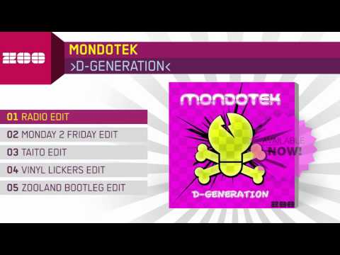 Mondotek - D-Generation (Radio Edit)