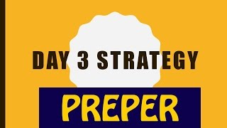 Day 3 of 45 days strategy