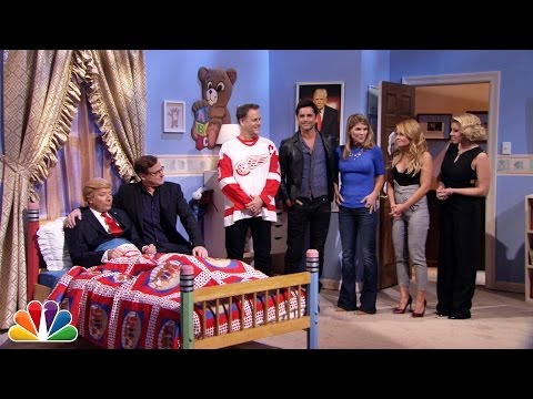 """Fuller House"" Cast Has Heart-to-Heart With Donald Trump (Jimmy Fallon)"