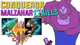 Conqueror on Malzahar actually viable? 17 Kills 3 Ocean Drakes=Lifesteal? [LeagueofLegends][PreS10]