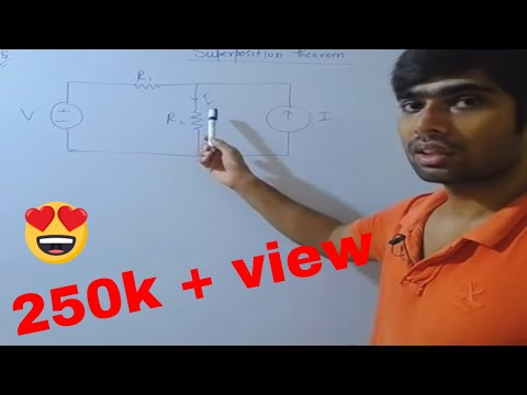 Superposition theorem in Hindi(with example). GATE LECTURE