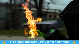 Fire Juggling KICK World Record! Josh Horton WRW Ep. 5