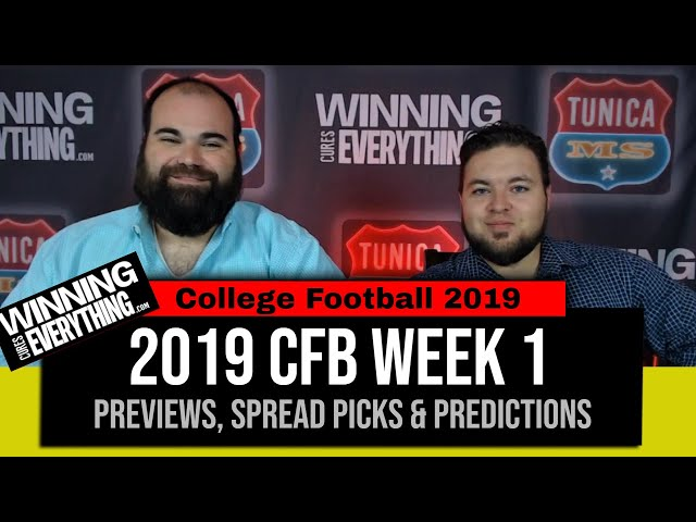 WCE: 2019 College Football Week 1 Preview & Big Game Spread Picks