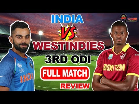 India Vs West Indies |3rd PAYTM One Day Internationals |PUNE MCA | Full Match Highlights