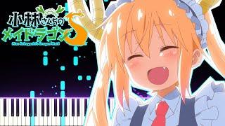 [FULL] Kobayashi-san Chi no Maid Dragon S OP - Ai no Supreme | [Piano Cover] (Synthesia)「ピアノ」