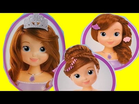 NEW Disney Junior Sofia The First Styling Head ★ Cool Hair Styles