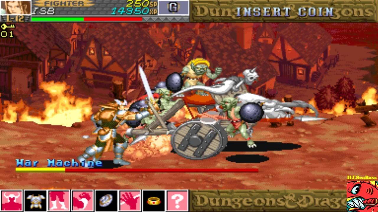Dungeons Dragons Shadows Over Mystara Ddsom Mame Arcade 50 440 Youtube